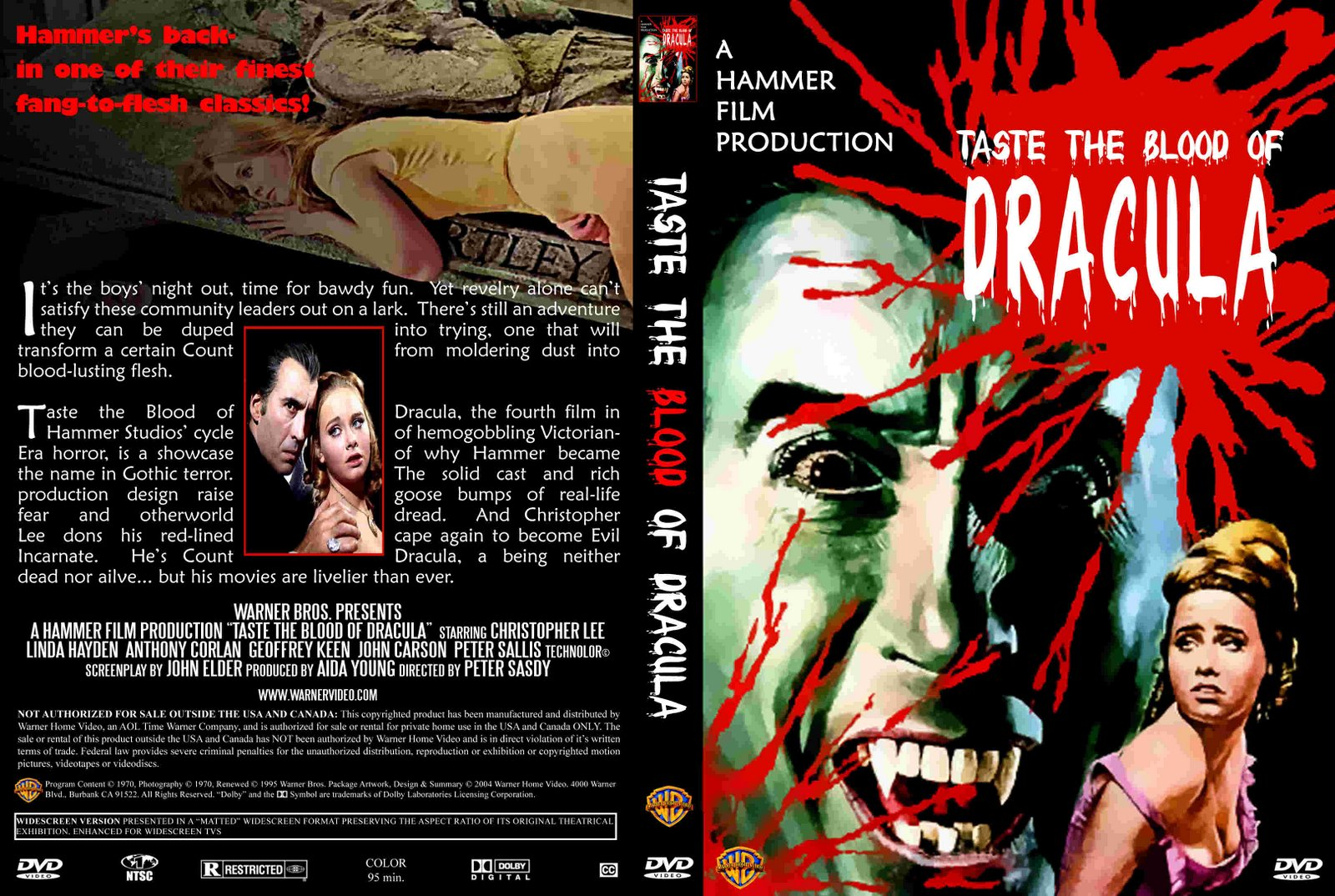 Taste the Blood of Dracula - DVD cover