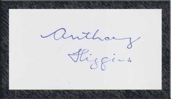 Anthony Higgins - Autograph