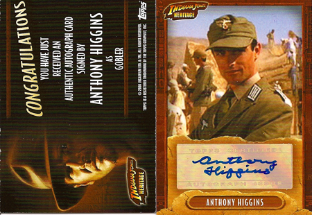 Anthony Higgins - Indiana Johnes Raiders - AUTOGRAPH 3